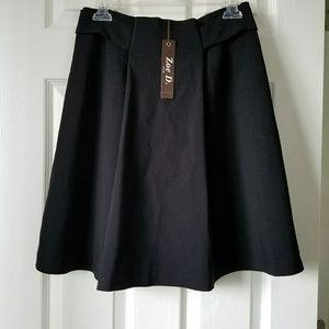 Zoe D. Petite Pleated Mini Skirt
